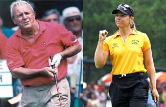 Arnold Palmer und Annika Sörenstam